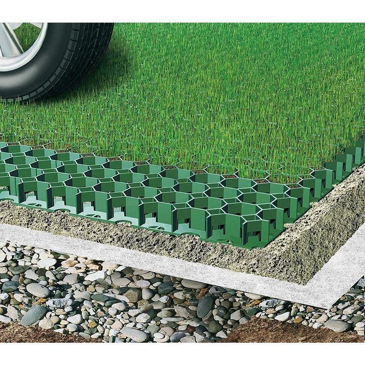 Home Driveway Design Ideas: Techno Earth 19.7 In. X 19.7 In. X 1.9 In. Green Permeable
