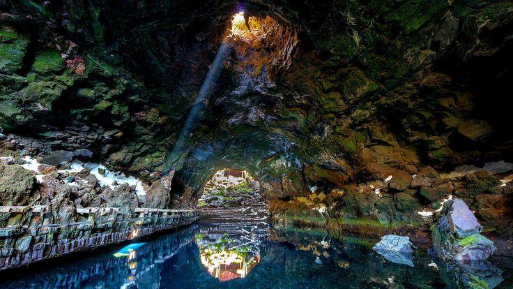 Les Jameos del Agua, les grottes de l'île de Lanzarote, aux Canaries