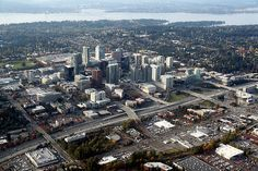 Bellevue is a city in the Eastside region of King County, Washington, United States, across Lake Washington from Seattle. As Seattle's largest suburb, Bellevue has variously been characterized as an edge city, a boomburb, or satellite city.[5][6] The city had a population of 122,363 at the 2010 census.