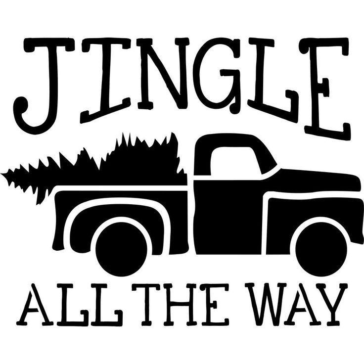 Designer Stencils Beige Semi And Transparent Jingle All The Way