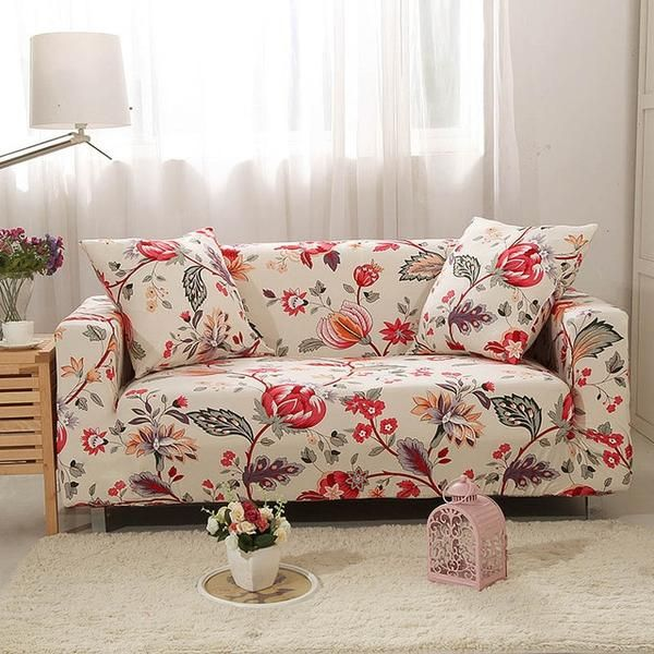 Bring Life To Your Worn Out Sofa And Give Your Home An Upgrade With Our Vibrant Sofaprint Elastic Stret In 2020 Sectional Sofa Slipcovers Floral Sofa Slip Covers Couch
