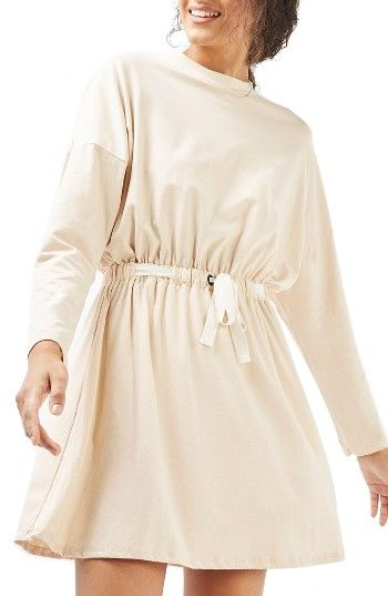 Free shipping and returns on Topshop Batwing Drawstring Waist Minidress at Nordstrom.com. A slouchy minidress with roomy batwing sleeves and a figure-defining contrast drawstring is made from soft stretch jersey, making it an easy-breezy option for kicked-back days by the beach.