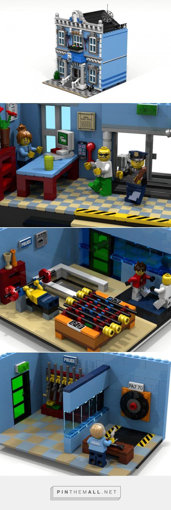 LEGO Ideas -      Police Headquarters - created via http://pinthemall.net
