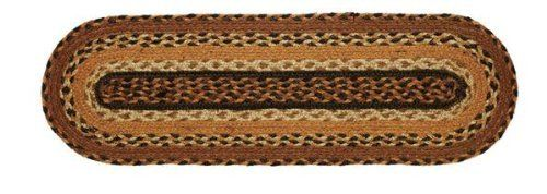 "Harvest Time Jute Stair Tread Oval 8.5x27"" by Victorian Heart. $11.20. See Product Description below for more details!. All cloth items in our collections are 100% preshrunk cotton. All braided items (like rugs, baskets, etc.) are 100% jute. High end quality and workmanship!. Extensive line of matching items and accessories available! (Search by Collection name). Product measurements and additional details listed in title and/or Product Description below.. 100% Jute"