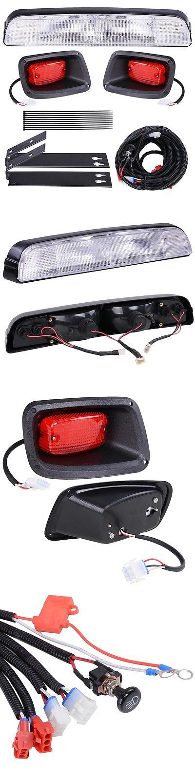 Push-Pull Golf Carts 75207: Ezgo Txt 1994 And Up Golf Cart Halogen Headlight Bar Light Kit W Led Taillights -> BUY IT NOW ONLY: $54.9 on eBay!