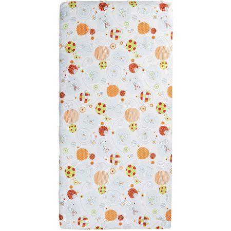 Playard Portable Mattress - Great Friends Design, Multicolor
