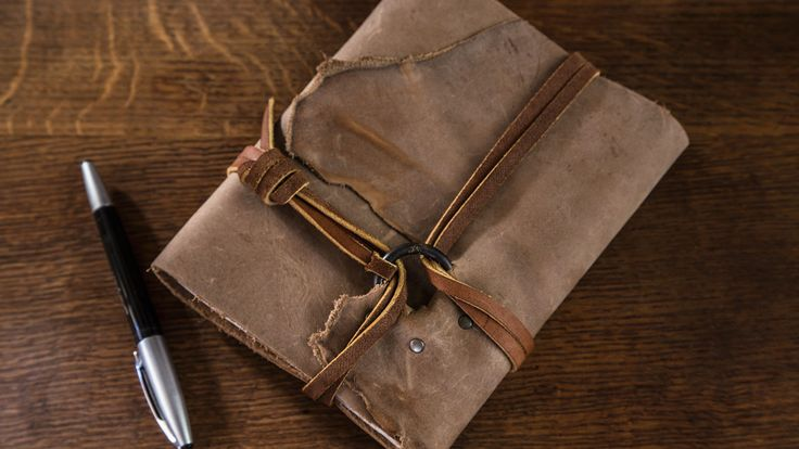 Brass Ring Leather Journal