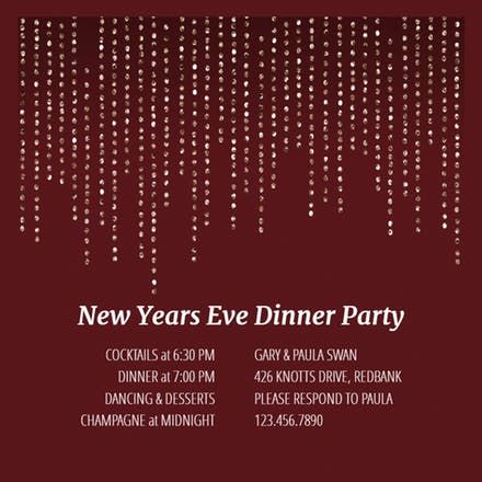 Best New YearS Eve Invitations Template Images On