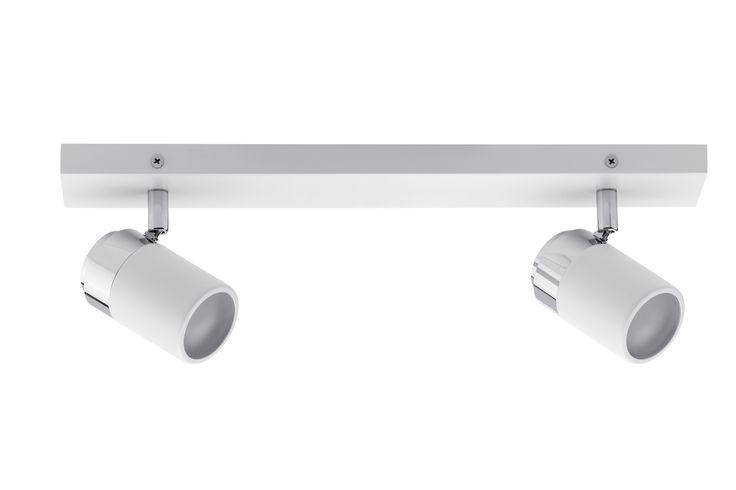 Projecteur Zyli 2-sources blanc/chrome