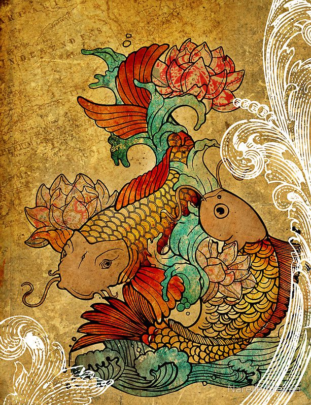 """""""Koi (version2)"""" Posters by Narelle Craven 
