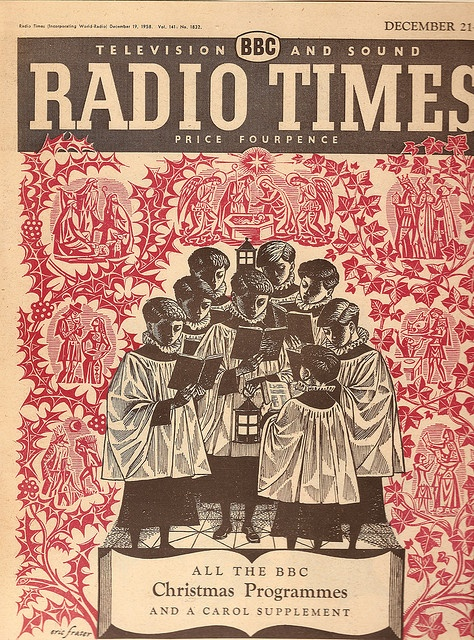 BBC Radio Times - front cover for Christmas 1958 by Eric Fraser | Flickr - Photo Sharing!