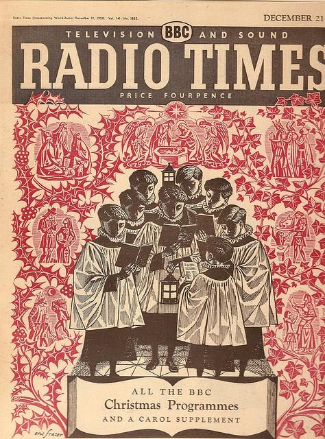 Eric Fraser -  Radio Times cover - Christmas 1958