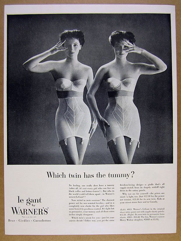 well, that's easy.  they both do.  and they're both constrained by spandex.  delightful.  go on, ask me a tougher question.