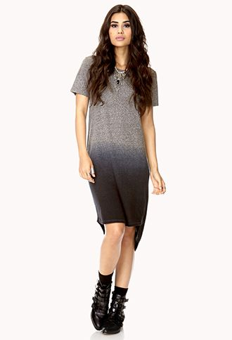 No-Fuss Dip-Dyed Dress | FOREVER21 - 2000074286