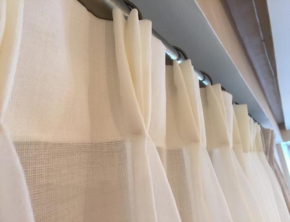 Custom Faux Linen Sheer Drapery Pinch Pleat French Pleat Inverted Pleat Flat Grommet Top Sheer Curtains Designer Drapery Decoracion De Unas Casas Verderon