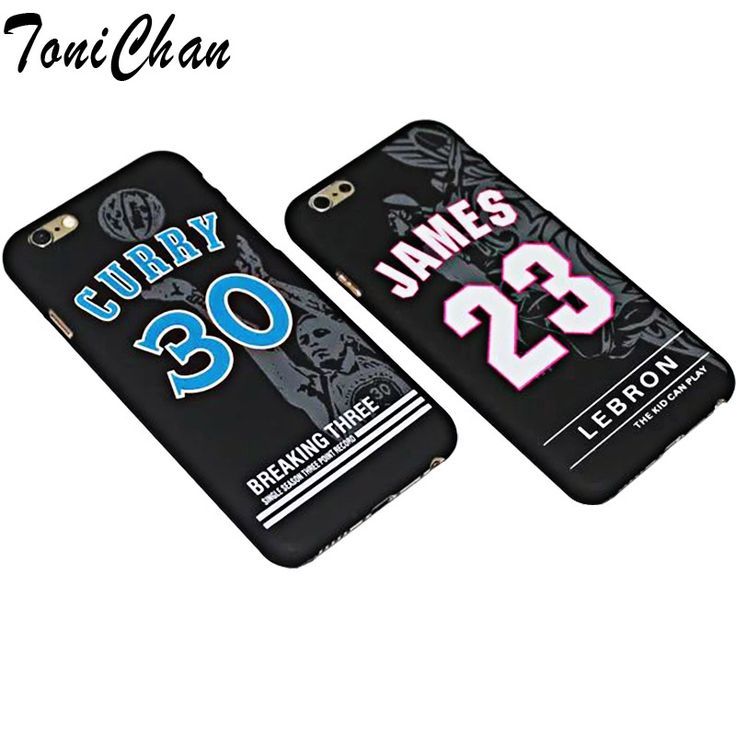 NBA Star Basketball Player Noctilucent Cameo Case for iPhone 5S 6 6S Plus Lebron James 23 Curry 30 Hard PC Back Cover Coque Capa