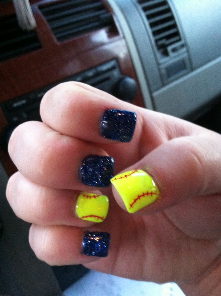 Softball nails. - Best 25+ Softball Nails Ideas On Pinterest Baseball Nail Designs