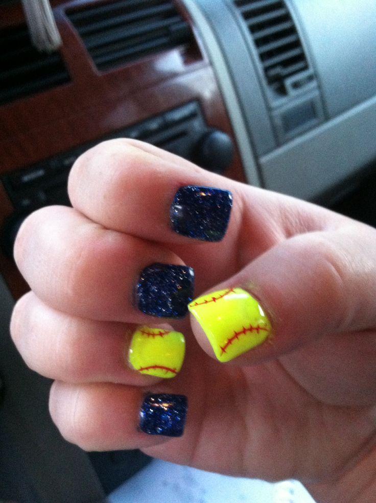 Softball nails...