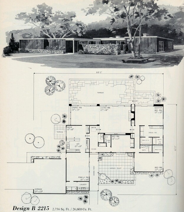 Reminds Me Of Frank Lloyd Wright Style House Plans