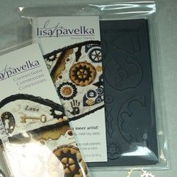 Lisa Pavelka Texture Sheets - Steampunk Patterns for creating beautiful embossed or surface designs with polymer clay, metal clay, paper, fabrics, wood, glass and more! Use with stamping inks, paints, Ultra Thick Embossing Enamels (UTEE), Lisa's foil or embossing powders for stunning effects. Ideal for clay applications including Mica Shift, Sutton Slice, Patterned Dichroic, or Lisa's Textile Effect, Faux Tapestry Techniques. Each texture stamp is extra deep to give highly detailed