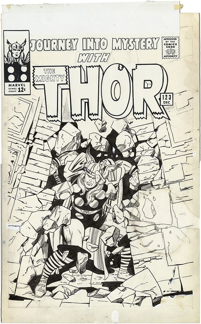 Gallery of Comic Art by Jack Kirby : Journey Into Mystery, Issue 123, Cover : What if Kirby