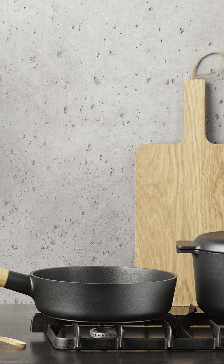 Nordic kitchen en fin minimalistisk køkken serie fra Eva solo. Køkkenserien er minimalistisk udført med øje for detalien som er essensen i nordisk design  #inspirationdk #køkken #køkkenudstyr #EvaSolo #NordicKitchen