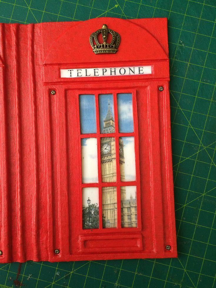 Мастер-класс по созданию блокнота «Лондонская телефонная будка» - Ярмарка Мастеров - ручная работа, handmade