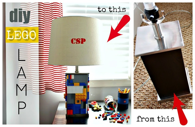 DIY Lego Lamp tutorial.  My son would love this! It would be great on his desk under his loft bed.