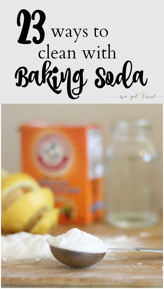 23 Ways to Clean with Baking Soda.  Baking soda is an awesome non-toxic cleaning ingredient. - We Got Real