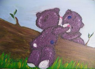 A Pretty Talent Blog: Painting Tatty Teddies In Oil Colours Part 1 of 2