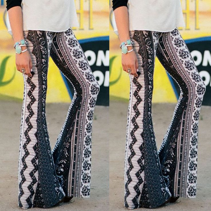 Retro Bell Bottom Leggings