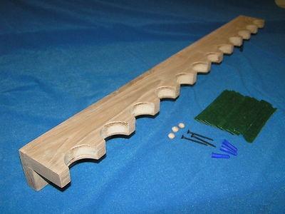 12 Gun Closet Gun Rack Solid Oak Dowel Construction | eBay