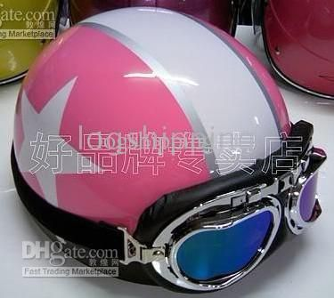 Cheap Helmet - Best Vespa Motorbicycle Open Face Pink White Star ...
