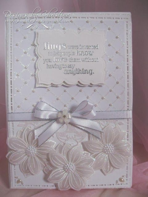 all white card by Christina Griffiths. use sun kissed flour