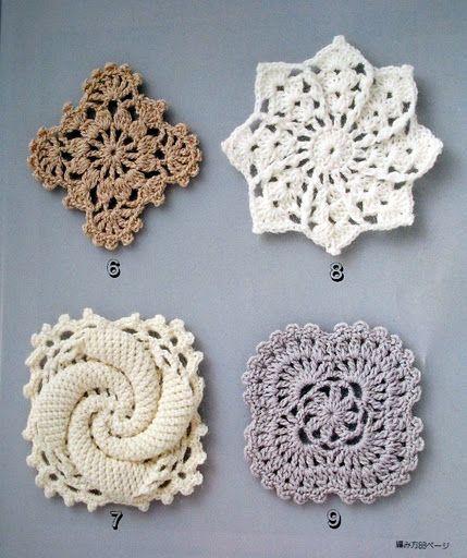 "podkins: "" Crochet Lace by Yukiko Kuro - free chart patterns via the link. """