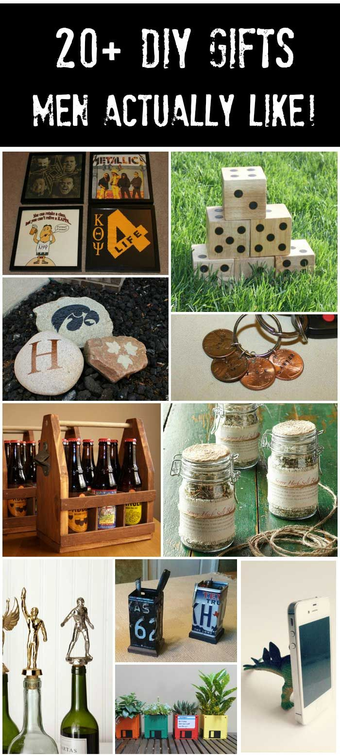 20+ DIY Gifts for Guys - that he'll actually like!