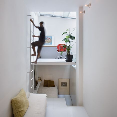 The owner of this Madrid apartment moves between living and working spaces like a character in a computer game