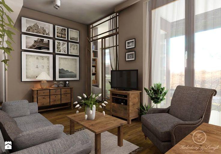 Aranżacje wnętrz - Salon: PARIS - Średni salon z tarasem / balkonem, styl prowansalski - Kołodziej & Szmyt. Przeglądaj, dodawaj i zapisuj najlepsze zdjęcia, pomysły i inspiracje designerskie. W bazie mamy już prawie milion fotografii!