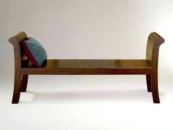 small wood bench indoor