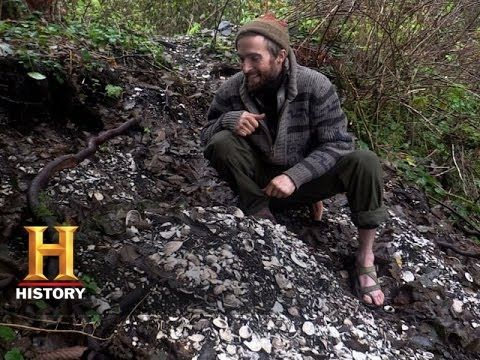 Alone: Lucas Finds a Shell Midden (Season 1, Episode 1) | History - YouTube