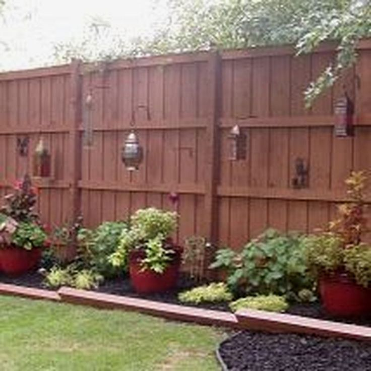 This is Stunning Privacy Fence Line Landscaping