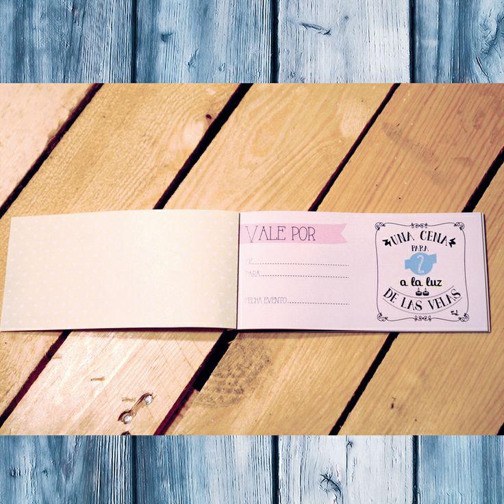 Uno de los vales regalo con ideas originales y divertidas incluido en nuestro talonario. Puedes comprarlo por separado, en pack o en nuestro kit de enamorados. ¡A que esperas, cómpralo ya! Disponible en: www.queway.es