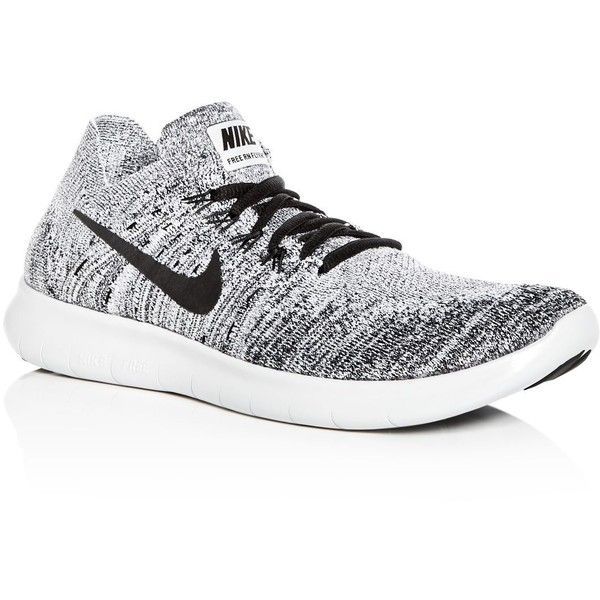 Nike Men's Free Rn Flyknit Lace Up Sneakers ($120) ❤ liked on Polyvore featuring men's fashion, men's shoes, men's sneakers, nike mens sneakers, mens lace up shoes, mens sneakers, nike flyknit mens shoes and mens shoes