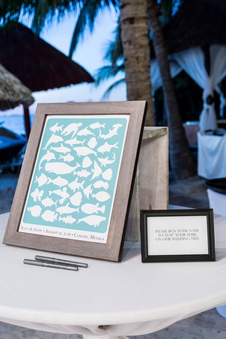 Make Your Guest Book As Unique You DreamsSandsCancun Mexico Destinationwedding