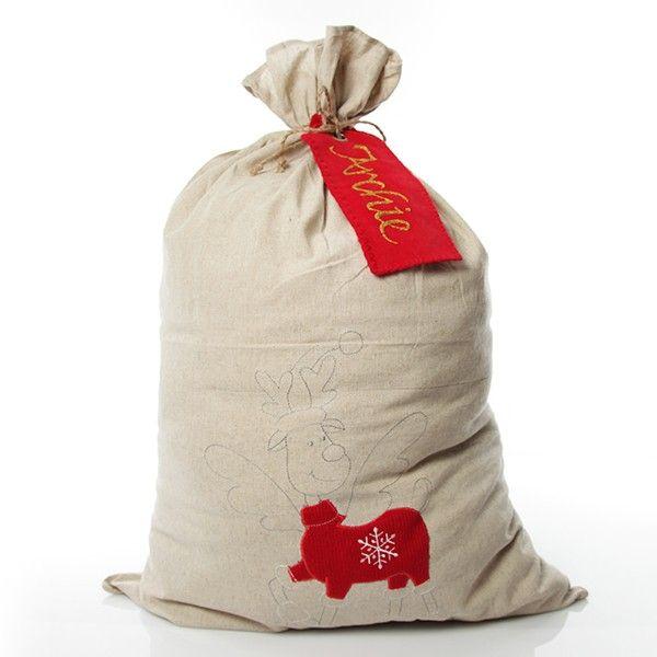 Nordic Reindeer Sack Personalised