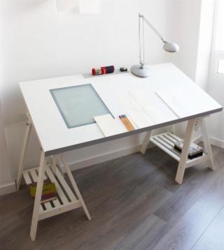 17 mejores ideas sobre mesa de dibujo en pinterest - Mesa de trabajo ikea ...