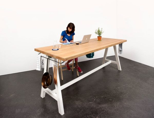 A Multipurpose Table You Can Prep, Cook, and Eat At On the side - prep cook