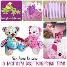 How to sew a memory toy keepsake teddy bear   Funky Friends Factory