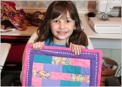 Extraordinary Seven-Year Old Seeks To Quilt for Kids in Need