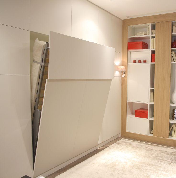 lit rabattable sur mesure m lamin blanc bedroom en. Black Bedroom Furniture Sets. Home Design Ideas